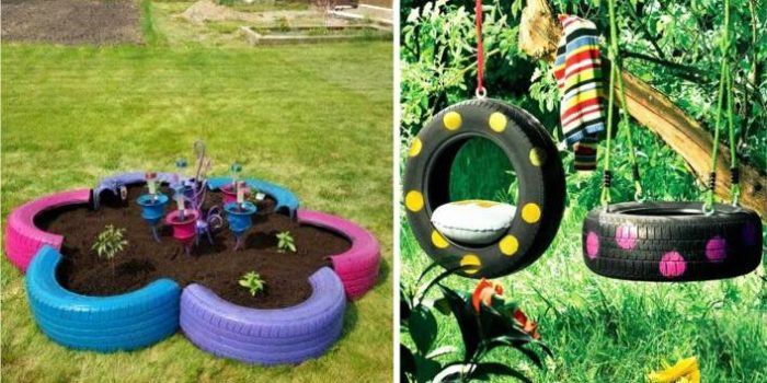 ideias criativas com pneus