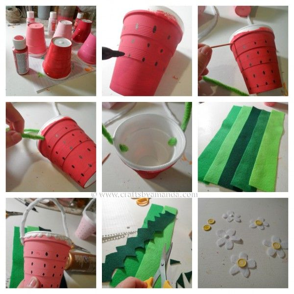 Artesanatos com Copos de Isopor