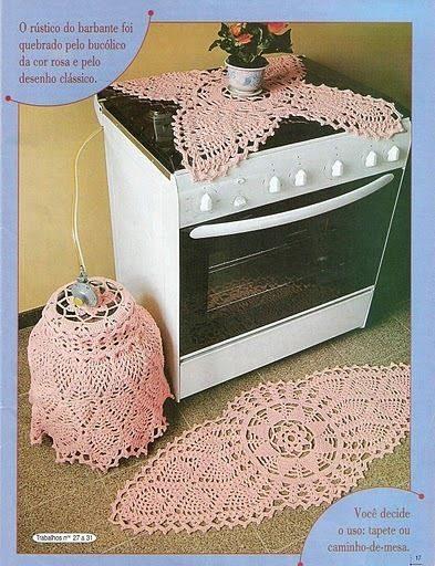 Dicas de Jogos de Cozinha de Crochê