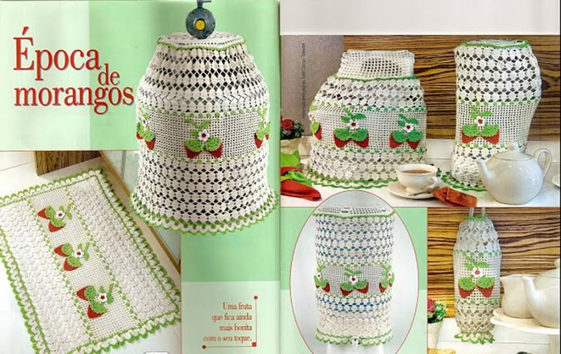 Adesivo Olhinhos Fechados ~ Jogos de Cozinha de Croch u00ea, 15 Fotos Artesanato Passo a Passo!