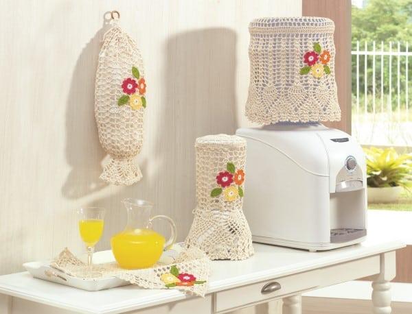 imagem de jogo de cozinha de croche