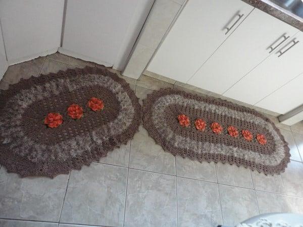 jogo de cozinha de croche luxo