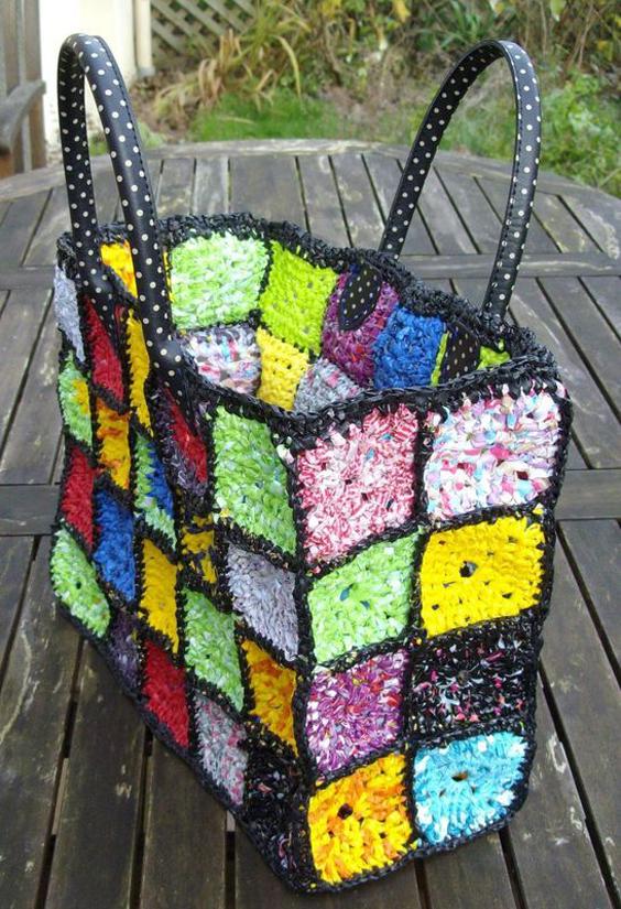 15 ideias de artesanato feito com sacolas pl sticas for West out of best project