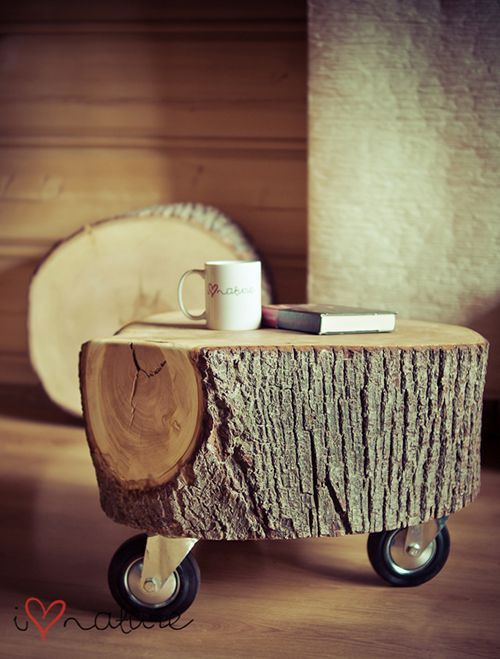 Artesanatos com Troncos de Árvores