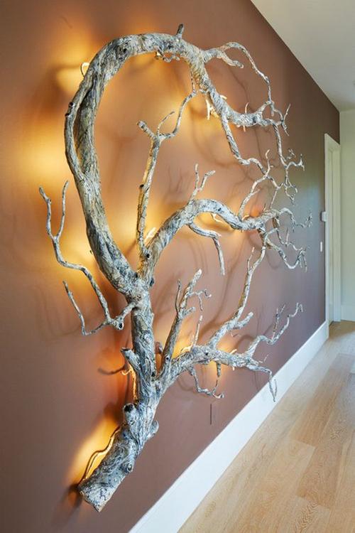 Artesanatos de Galhos Secos de Árvore