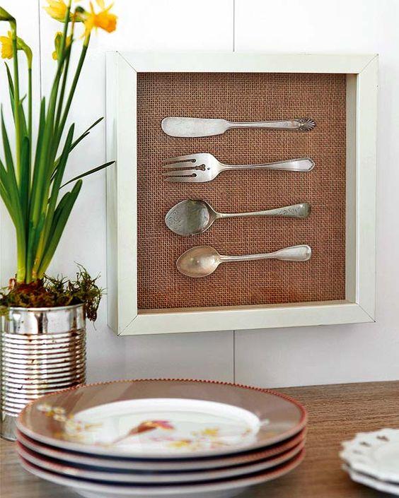 12 artesanatos para reaproveitar molduras de quadros - Cuadros originales para cocina ...