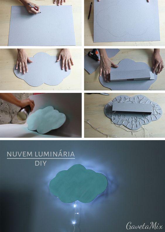 15 Ideias Criativas de Artesanato para Quarto Artesanato  ~ Como Fazer Uma Luminaria Para Quarto