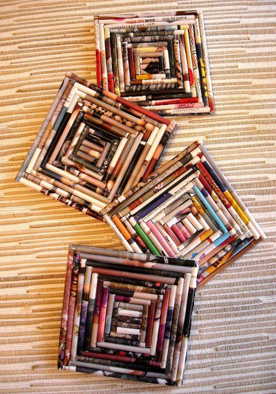 Andrea Artesanato Goiania ~ 10 Ideias Criativas de Artesanatos Feitos com Revistas Usadas Artesanato Passo a Passo!