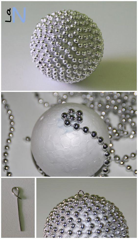 10 ideias de artesanato com bolas de isopor artesanato - Bolas de navidad grandes ...