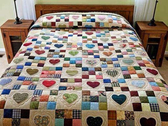 18 ideias de artesanatos com patchwork artesanato passo - Colchas de patchwork hechas a mano ...