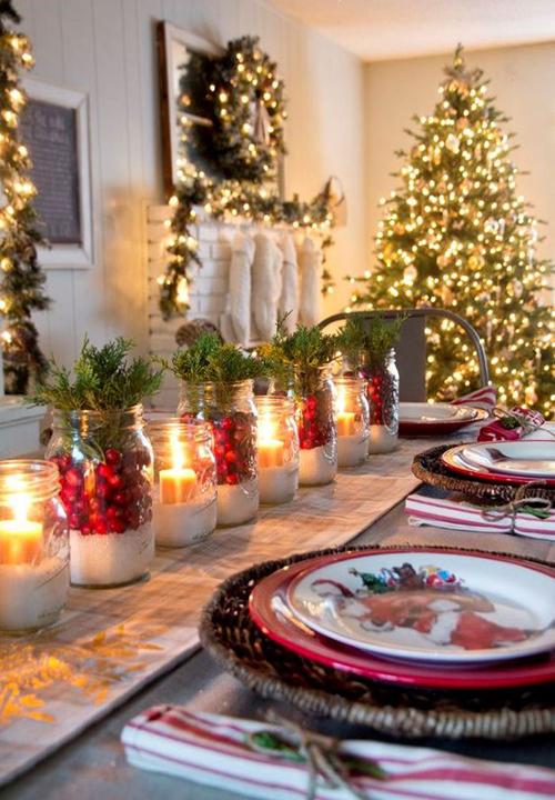 Decoração de Mesas de Natal com Material Reciclado - Artesanato ...
