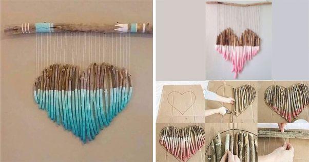 artesanatos criativos com galhos