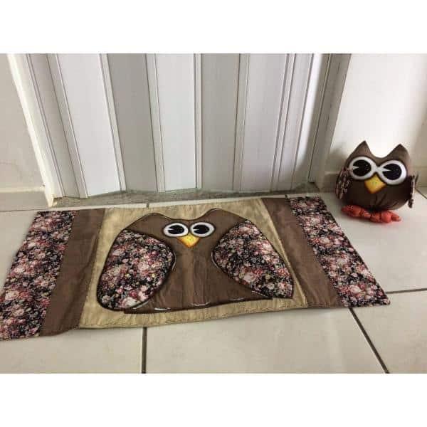 Tapete patchwork corujinha