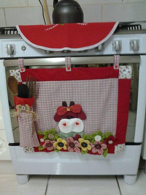 decoração em feltro para cozinha