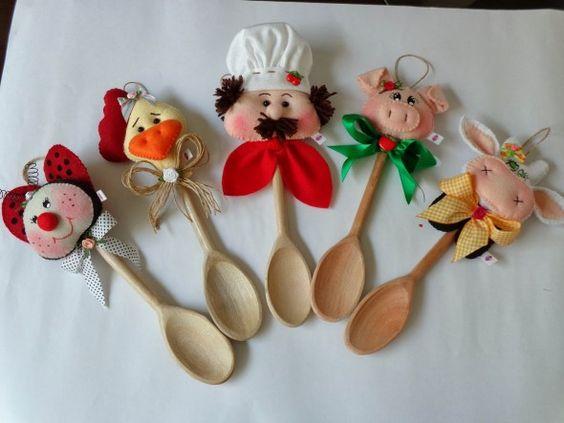 peças de feltro para cozinha