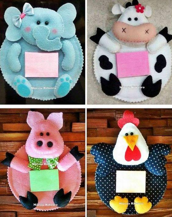 Adesivos Personalizados Infantil De Parede ~ 23 Ideias de Artesanato em Feltro para Cozinha Artesanato Passo a Passo!