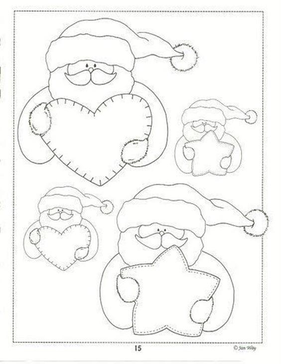 20 Moldes Papai Noel Para Imprimir Artesanato Passo A Passo