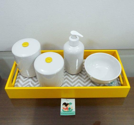 Aparador Preto Para Sala ~ 20 Ideias de Kits de Higiene para Beb u00eas Artesanato Passo a Passo!