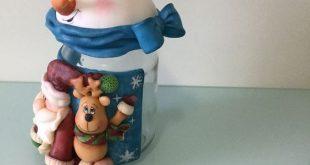 Potes de Natal em Biscuit, 20 Fotos