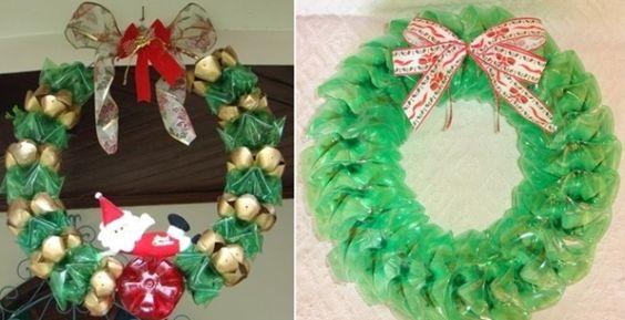 Dicas de Artesanato de Natal com Garrafa Pet