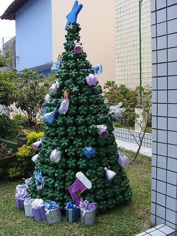Aparador Sala De Estar ~ Artesanato de Natal com Garrafa Pet Artesanato Passo a Passo!