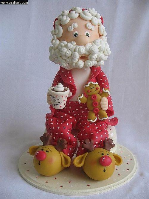 Dicas de Artesanatos de Biscuit para o Natal