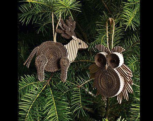 Dicas de Artesanatos de Natal Feitos com Papelão