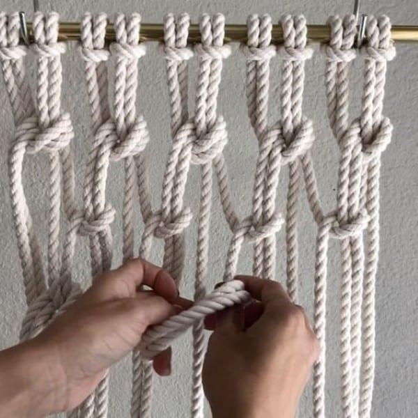 macrame em corda