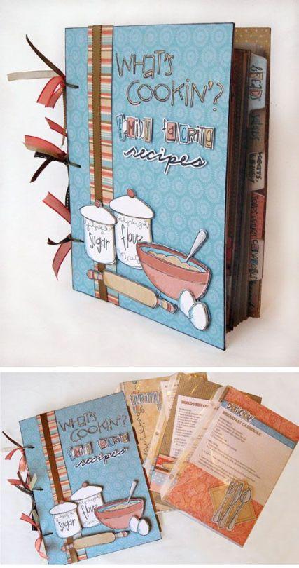 Dicas de Artesanatos para Caderno de Receitas