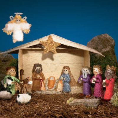 Dicas de Presépios de Natal Feitos com Artesanato
