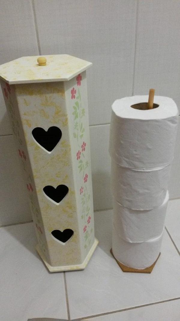 27 Artesanatos para Banheiro Pequeno  Artesanato Passo a Passo! -> Artesanato Banheiro Pequeno