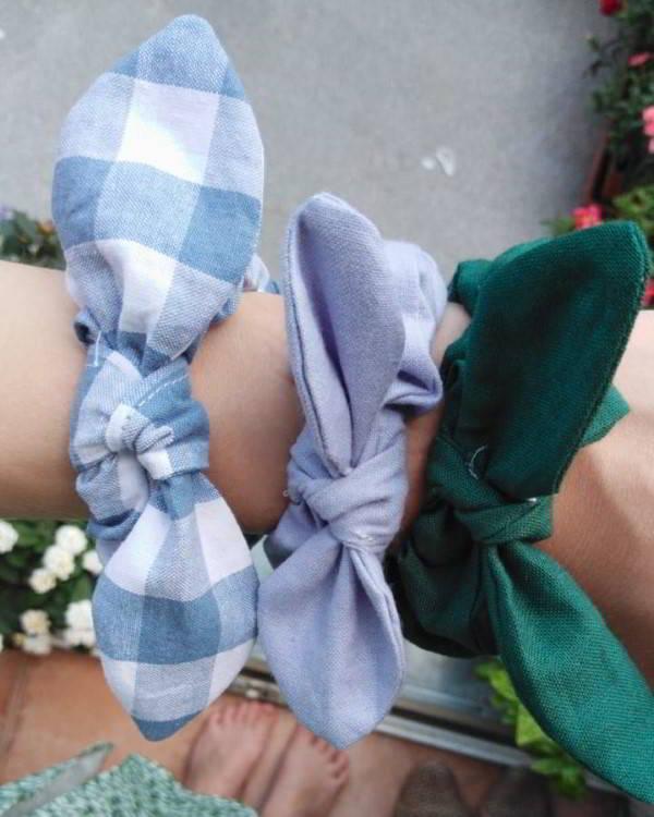 ideia de artesanato com tecido
