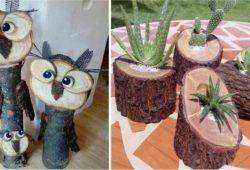 artesanatos rusticos madeira