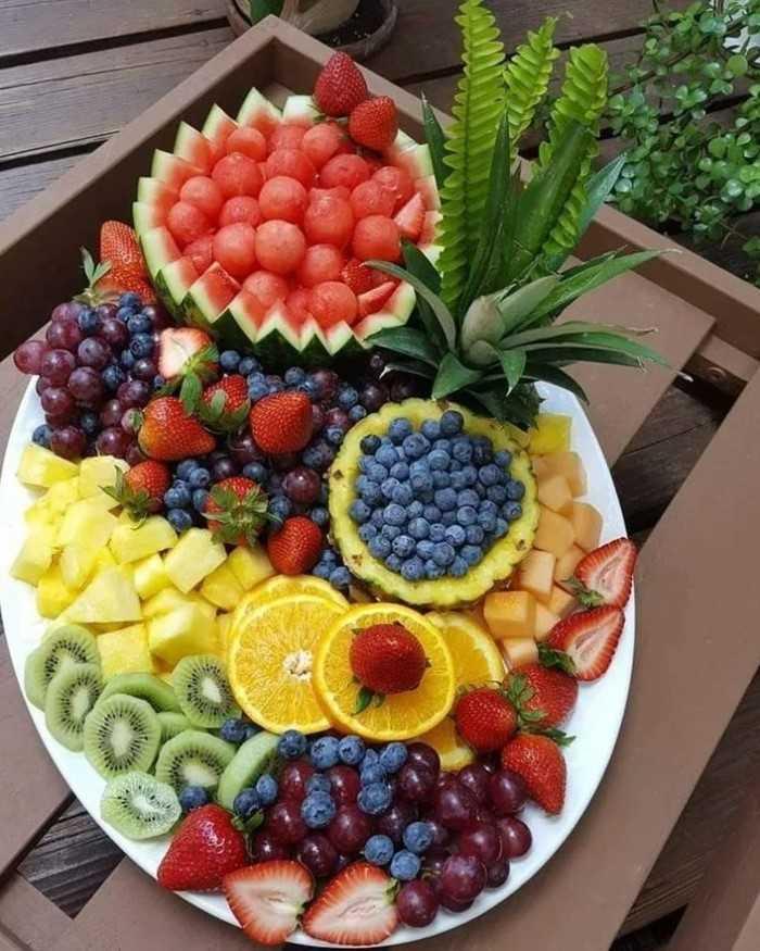 decoração de mesa reveillon com frutas