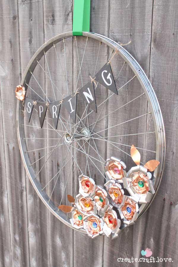 Aparador Westwing ~ 20 Ideias de Artesanato Feito com Aro de Bicicleta Artesanato Passo a Passo!