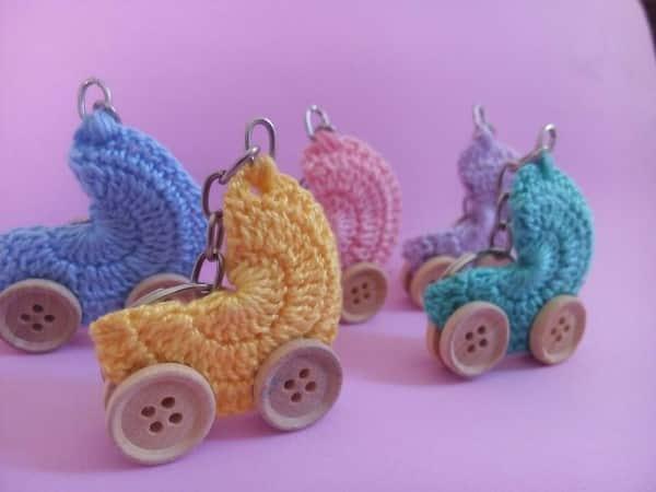 carrinho de bebe em croche