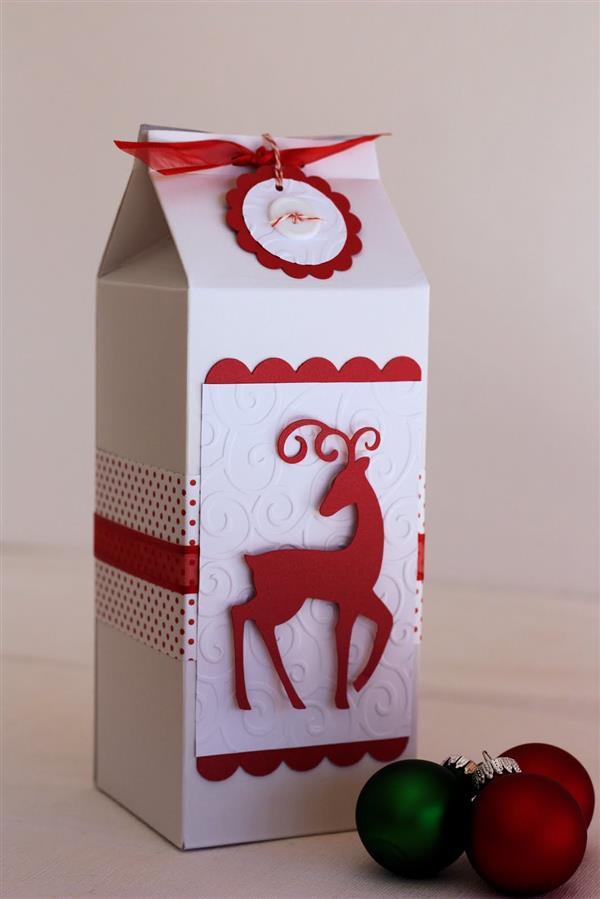 como decorar caixa de leite