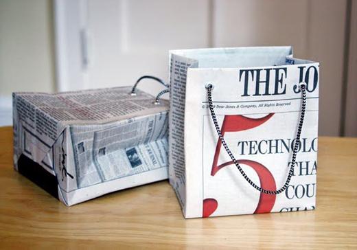 como fazer artesanato de jornal