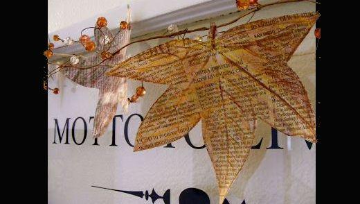 artesanato com canudos de jornal