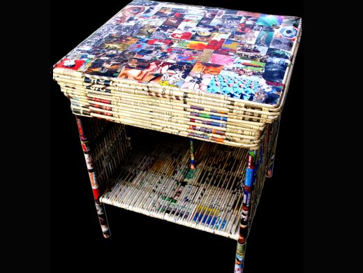 artesanatos feitos com jornal