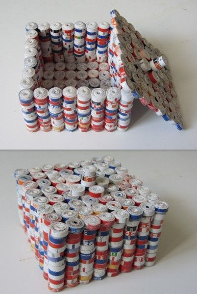 como se faz artesanato de jornal