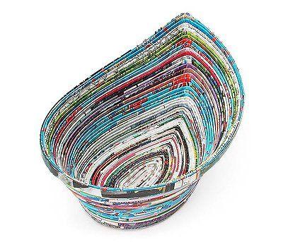 artesanato reciclagem jornal passo a passo