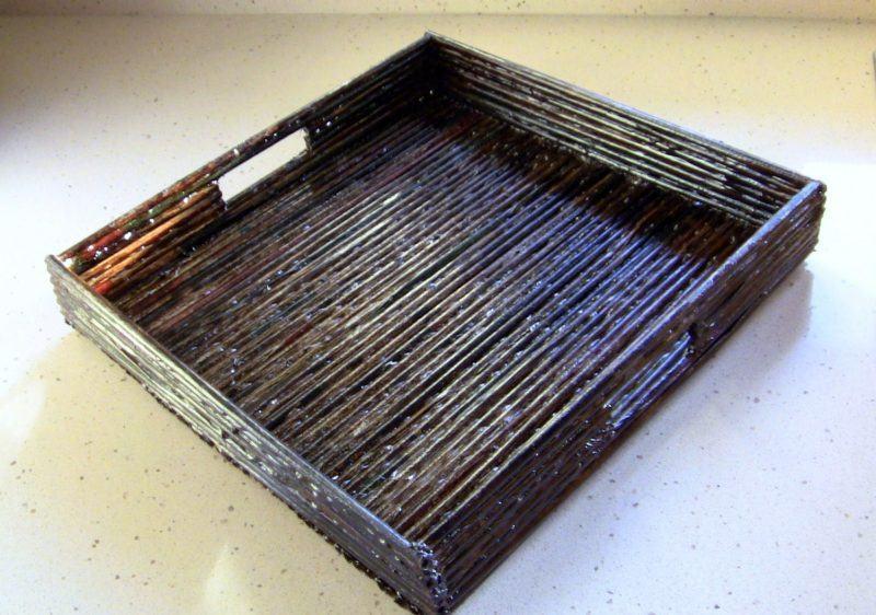 artesanato feito de jornal como fazer