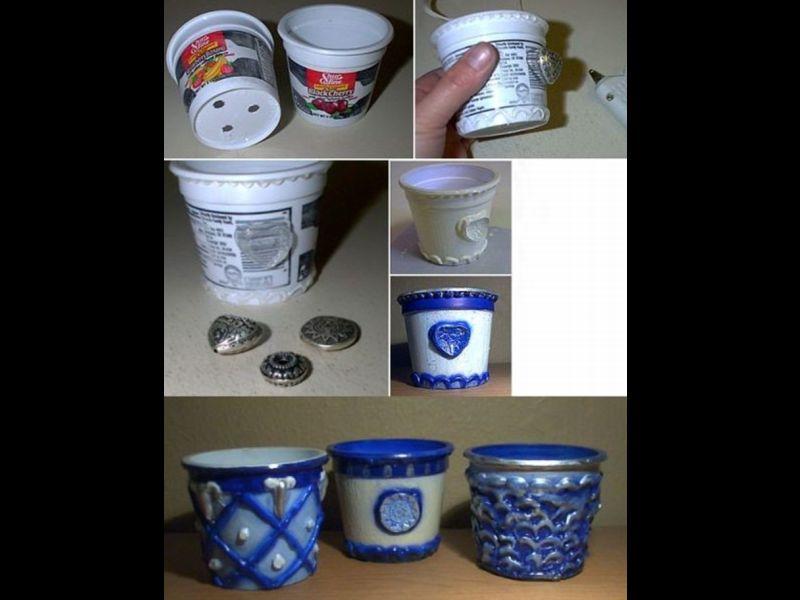 Dicas de Artesanato com Potes de Plástico