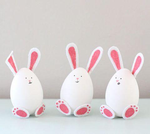 23 ideias de artesanato para p scoa com material - Uova decorate per bambini ...