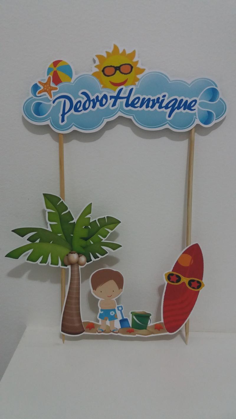Topo de Bolo em Scrap surf