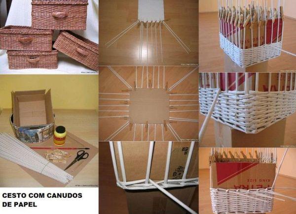 16 ideias de artesanato com canudinhos de papel artesanato passo a passo - Manualidades con papel periodico paso a paso ...