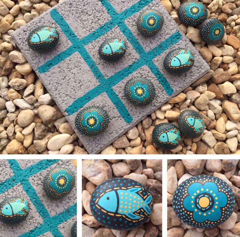 Aparador Alto Nogal ~ 22 Ideias de Artesanato com Pedrinhas de Jardim Artesanato Passo a Passo!