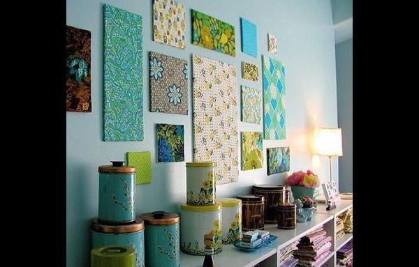 quadros artesanato com tecido