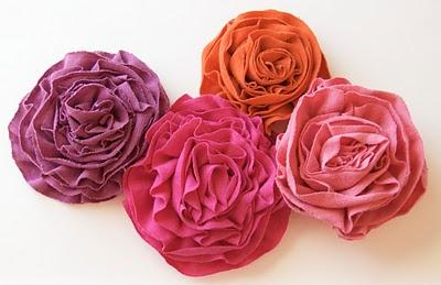 artesanato flores de tecido